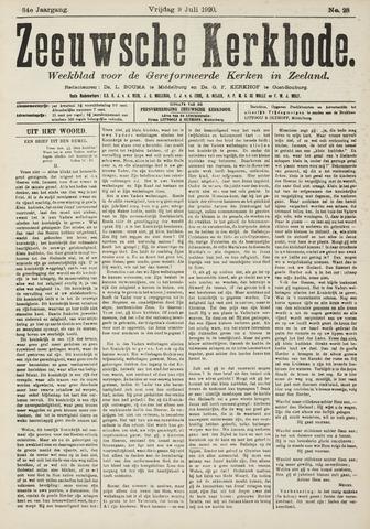 Zeeuwsche kerkbode, weekblad gewijd aan de belangen der gereformeerde kerken/ Zeeuwsch kerkblad 1920-07-09