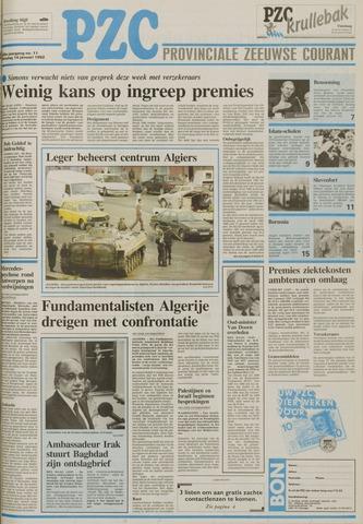 Provinciale Zeeuwse Courant 1992-01-14