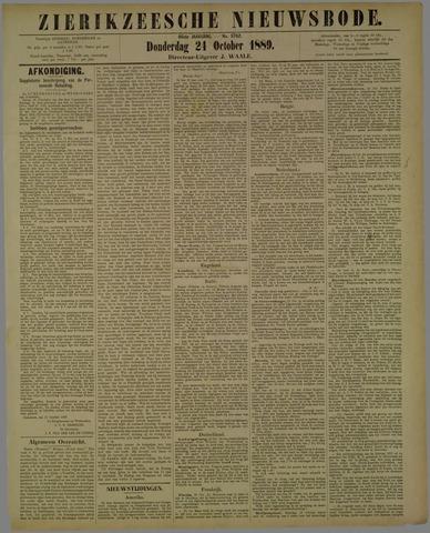 Zierikzeesche Nieuwsbode 1889-10-24