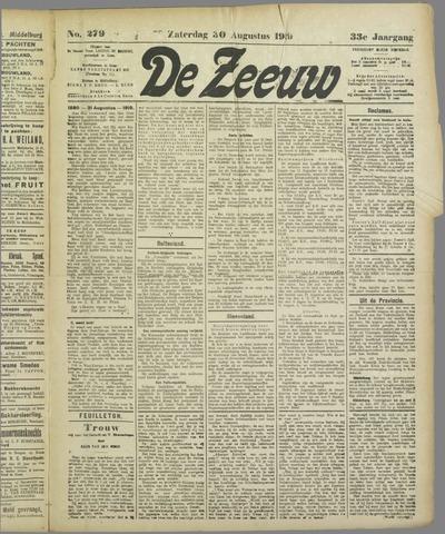 De Zeeuw. Christelijk-historisch nieuwsblad voor Zeeland 1919-08-30