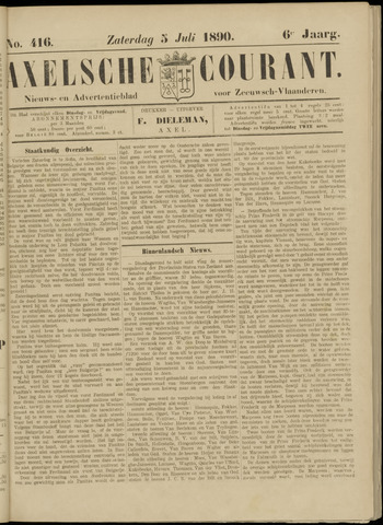 Axelsche Courant 1890-07-05