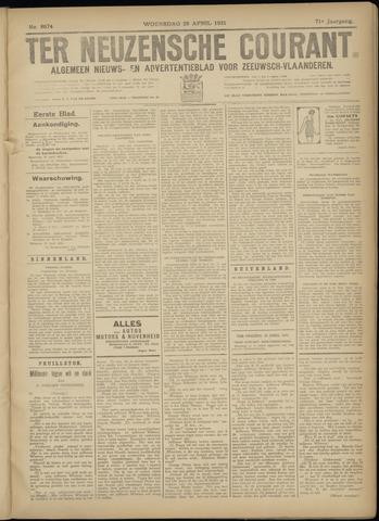 Ter Neuzensche Courant. Algemeen Nieuws- en Advertentieblad voor Zeeuwsch-Vlaanderen / Neuzensche Courant ... (idem) / (Algemeen) nieuws en advertentieblad voor Zeeuwsch-Vlaanderen 1931-04-29