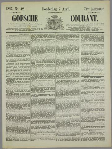 Goessche Courant 1887-04-07