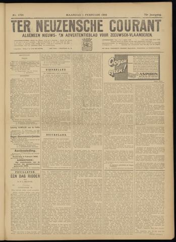 Ter Neuzensche Courant. Algemeen Nieuws- en Advertentieblad voor Zeeuwsch-Vlaanderen / Neuzensche Courant ... (idem) / (Algemeen) nieuws en advertentieblad voor Zeeuwsch-Vlaanderen 1932-02-01