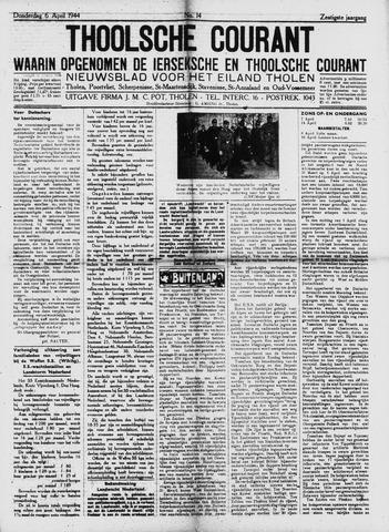 Ierseksche en Thoolsche Courant 1944-04-06