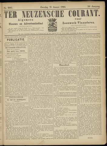 Ter Neuzensche Courant. Algemeen Nieuws- en Advertentieblad voor Zeeuwsch-Vlaanderen / Neuzensche Courant ... (idem) / (Algemeen) nieuws en advertentieblad voor Zeeuwsch-Vlaanderen 1894-01-27