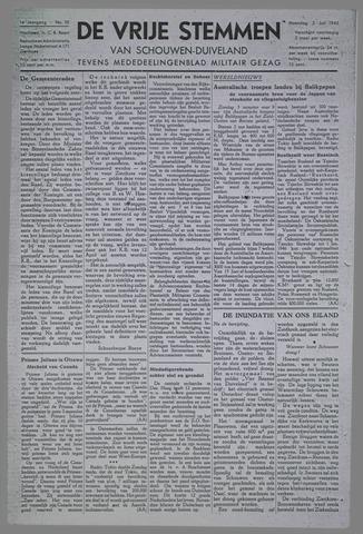 Vrije Stemmen van Schouwen-Duiveland, tevens mededeelingenblad Militair Gezag 1945-07-02