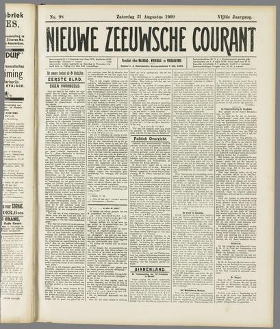 Nieuwe Zeeuwsche Courant 1909-08-21