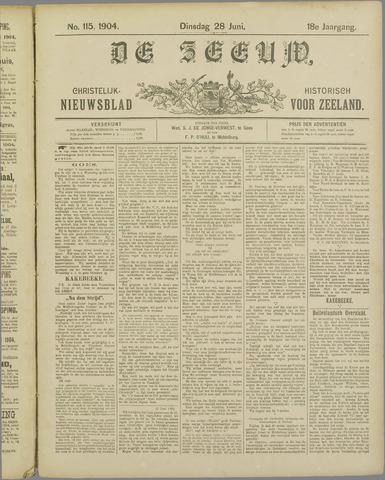 De Zeeuw. Christelijk-historisch nieuwsblad voor Zeeland 1904-06-28