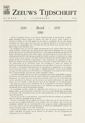 Zeeuws Tijdschrift 1961-01-01