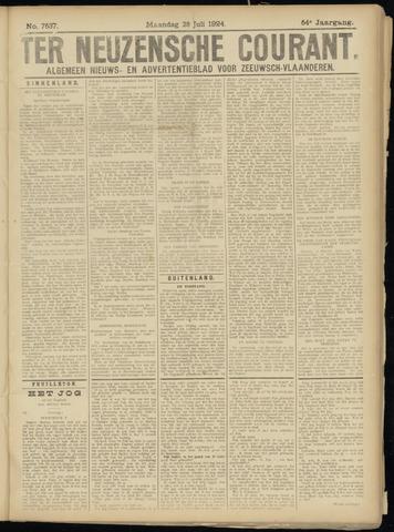 Ter Neuzensche Courant. Algemeen Nieuws- en Advertentieblad voor Zeeuwsch-Vlaanderen / Neuzensche Courant ... (idem) / (Algemeen) nieuws en advertentieblad voor Zeeuwsch-Vlaanderen 1924-07-28