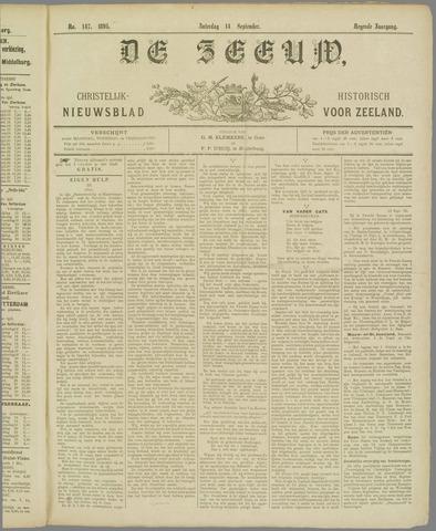 De Zeeuw. Christelijk-historisch nieuwsblad voor Zeeland 1895-09-14