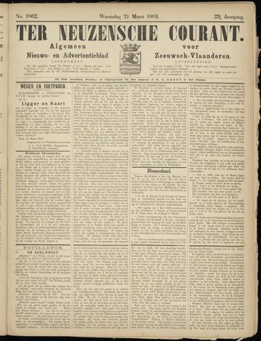 Ter Neuzensche Courant. Algemeen Nieuws- en Advertentieblad voor Zeeuwsch-Vlaanderen / Neuzensche Courant ... (idem) / (Algemeen) nieuws en advertentieblad voor Zeeuwsch-Vlaanderen 1883-03-21