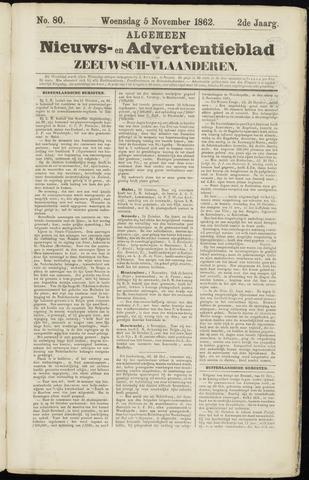 Ter Neuzensche Courant. Algemeen Nieuws- en Advertentieblad voor Zeeuwsch-Vlaanderen / Neuzensche Courant ... (idem) / (Algemeen) nieuws en advertentieblad voor Zeeuwsch-Vlaanderen 1862-11-05