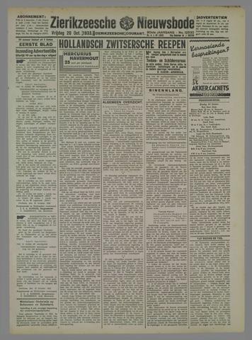 Zierikzeesche Nieuwsbode 1933-10-20