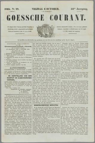 Goessche Courant 1865-10-06