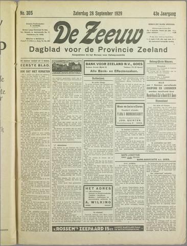 De Zeeuw. Christelijk-historisch nieuwsblad voor Zeeland 1929-09-28