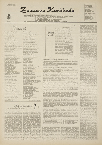 Zeeuwsche kerkbode, weekblad gewijd aan de belangen der gereformeerde kerken/ Zeeuwsch kerkblad 1969-10-02
