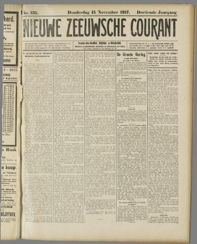 Nieuwe Zeeuwsche Courant 1917-11-15