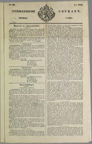 Zierikzeesche Courant 1844-04-09