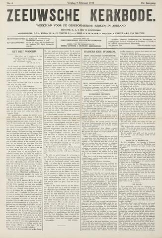 Zeeuwsche kerkbode, weekblad gewijd aan de belangen der gereformeerde kerken/ Zeeuwsch kerkblad 1934-02-09