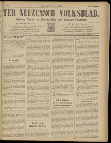 Ter Neuzensch Volksblad. Vrijzinnig nieuws- en advertentieblad voor Zeeuwsch- Vlaanderen / Zeeuwsch Nieuwsblad. Nieuws- en advertentieblad voor Zeeland 1915-10-16