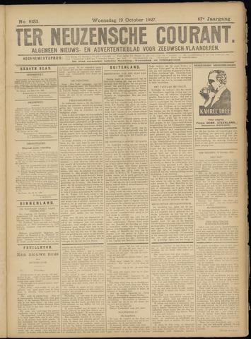 Ter Neuzensche Courant. Algemeen Nieuws- en Advertentieblad voor Zeeuwsch-Vlaanderen / Neuzensche Courant ... (idem) / (Algemeen) nieuws en advertentieblad voor Zeeuwsch-Vlaanderen 1927-10-19