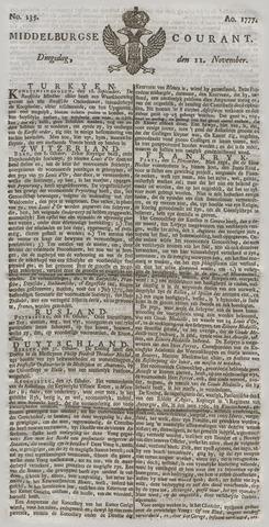 Middelburgsche Courant 1777-11-11