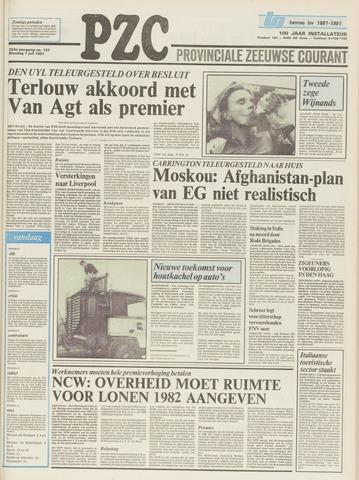 Provinciale Zeeuwse Courant 1981-07-07