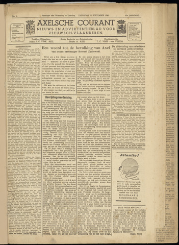 Axelsche Courant 1945-09-22