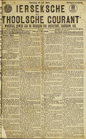 Ierseksche en Thoolsche Courant 1914-07-18