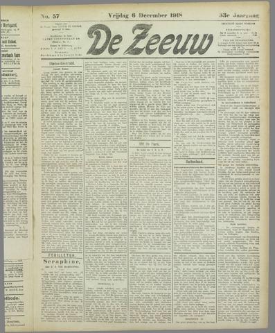 De Zeeuw. Christelijk-historisch nieuwsblad voor Zeeland 1918-12-06