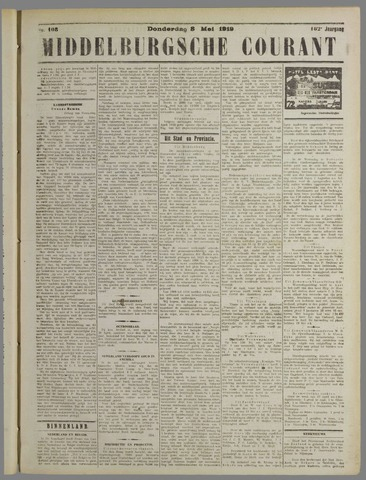 Middelburgsche Courant 1919-05-08