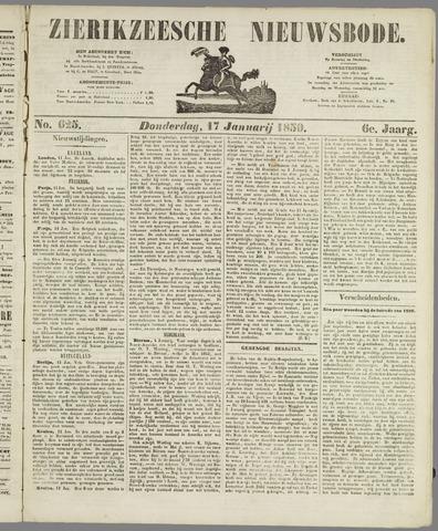 Zierikzeesche Nieuwsbode 1850-01-17