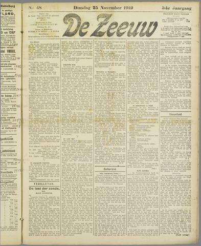 De Zeeuw. Christelijk-historisch nieuwsblad voor Zeeland 1919-11-25