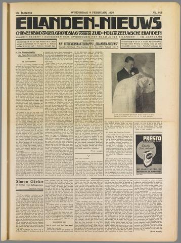 Eilanden-nieuws. Christelijk streekblad op gereformeerde grondslag 1938-02-09