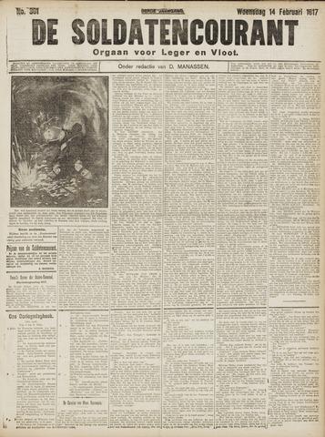 De Soldatencourant. Orgaan voor Leger en Vloot 1917-02-14