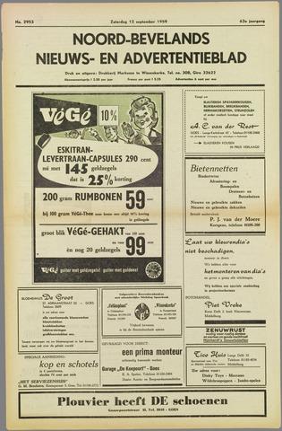 Noord-Bevelands Nieuws- en advertentieblad 1959-09-12