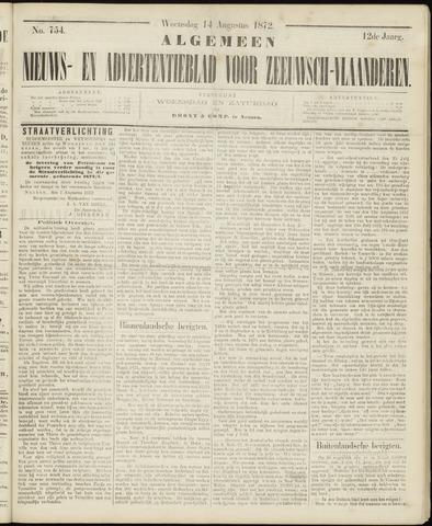 Ter Neuzensche Courant. Algemeen Nieuws- en Advertentieblad voor Zeeuwsch-Vlaanderen / Neuzensche Courant ... (idem) / (Algemeen) nieuws en advertentieblad voor Zeeuwsch-Vlaanderen 1872-08-14