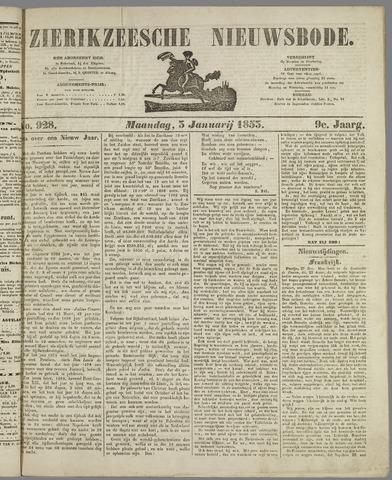 Zierikzeesche Nieuwsbode 1853