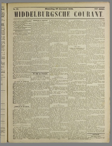 Middelburgsche Courant 1919-01-27