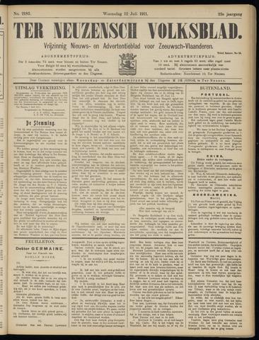 Ter Neuzensch Volksblad. Vrijzinnig nieuws- en advertentieblad voor Zeeuwsch- Vlaanderen / Zeeuwsch Nieuwsblad. Nieuws- en advertentieblad voor Zeeland 1911-07-12