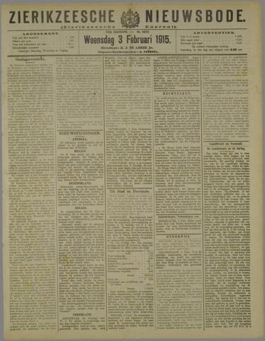 Zierikzeesche Nieuwsbode 1915-02-03