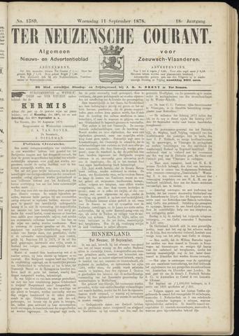Ter Neuzensche Courant. Algemeen Nieuws- en Advertentieblad voor Zeeuwsch-Vlaanderen / Neuzensche Courant ... (idem) / (Algemeen) nieuws en advertentieblad voor Zeeuwsch-Vlaanderen 1878-09-11