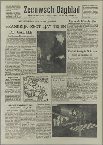 Zeeuwsch Dagblad 1958-09-29
