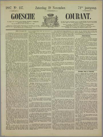 Goessche Courant 1887-11-19