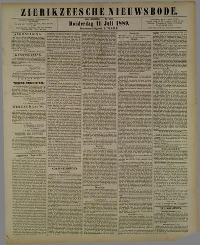 Zierikzeesche Nieuwsbode 1889-07-11