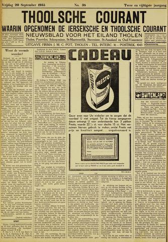 Ierseksche en Thoolsche Courant 1935-09-20