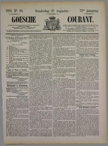Goessche Courant 1885-08-20