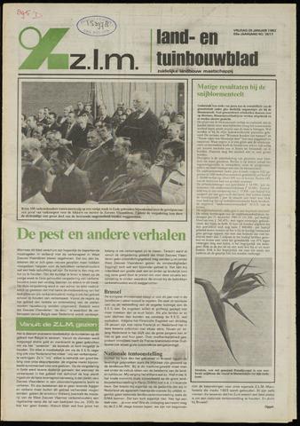 Zeeuwsch landbouwblad ... ZLM land- en tuinbouwblad 1982-01-29